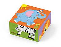 Пазл-кубики Сафарі Viga toys (50836)
