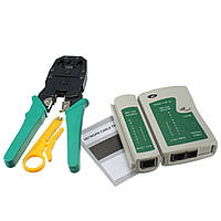 DANIU RJ45 RJ11 RJ12 CAT5 Сетевой набор инструментов для кабельных сетей Кабельный тестер Обжимной обжимной клещи