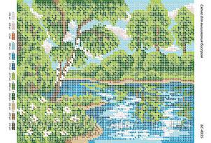 Схема для вишивання бісером Біля річки
