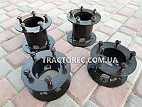 Удлинители оси мототрактора универсальные под 5 болтов к стутице, комплект 2 шт, передние или задние. ПАРА, фото 1