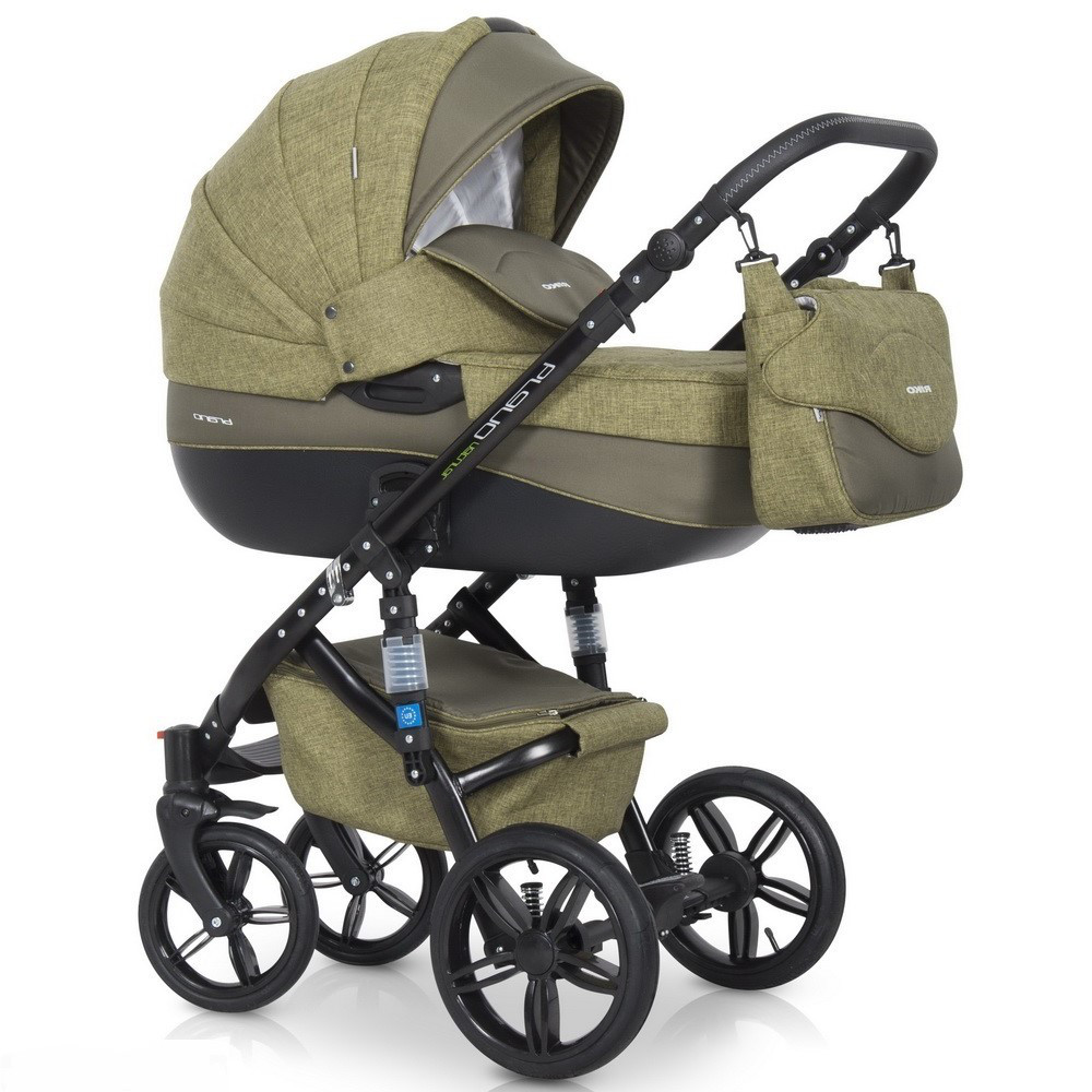 Детская универсальная коляска 2 в 1 Riko Brano Natural 04 Olive