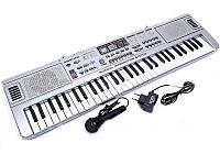 Синтезатор, пианино, орган детский. 61 клавиша, микрофон, FM радио. Модель приближенная к профессиональному., фото 1