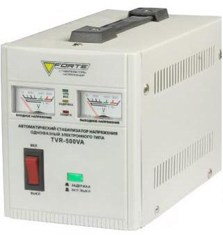 Стабилизатор релейный 500 Вт 1Ф Forte TVR-500VA