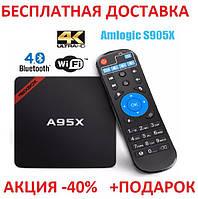 NEXBOX A95X TV BOX Android Смарт ТВ телевизионная приставка медиаплеер 2GB+16GB Amlogic S905X Smart tv