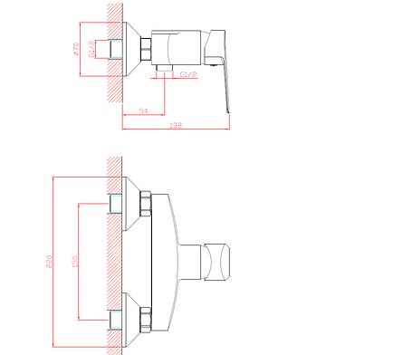 Смеситель для душа ROZZY JENORI LOTUS однорычажный, хром 35 мм, фото 2