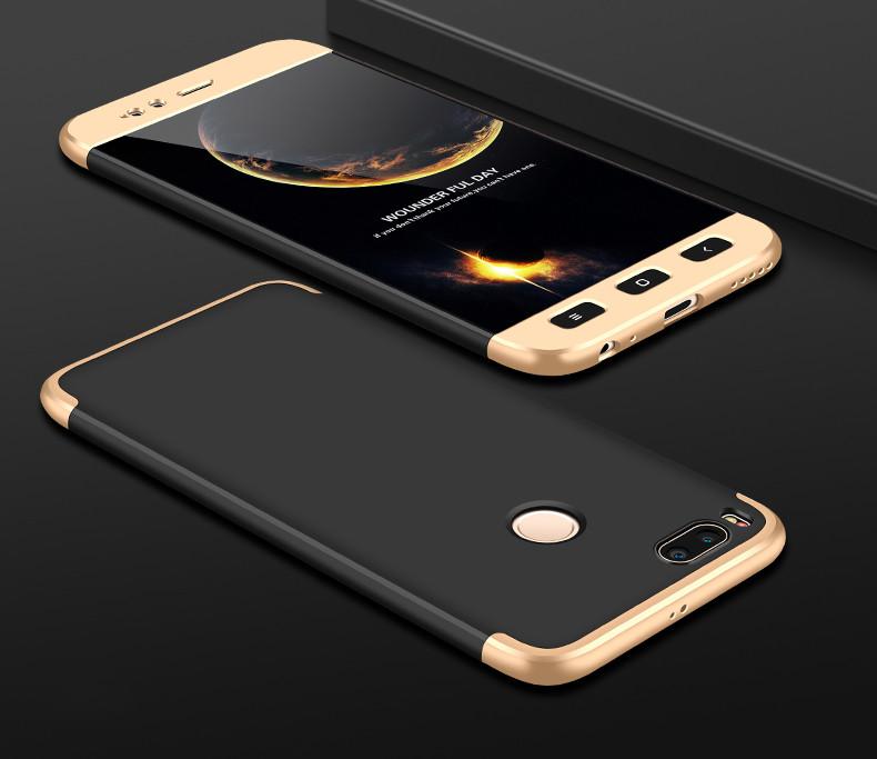 Чехол GKK 360 для Xiaomi mi A1 / mi 5x Бампер Black+Gold