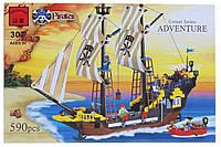 """Конструктор LEGO BRICK - """"Большой пиратский корабль"""". Детали - 590 шт."""