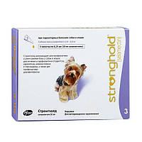Антипаразитарный препарат для собак (вес 2,5 - 5 кг) Стронгхолд 30 мг 3 пипетки по 0,25 мл (США, 10008308)