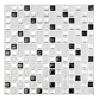 Современная черно-белая трехмерная кирпичная мозаика Плитка для настенной бумаги Ванная комната Наклейка на домашний декор для кухни