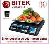 Весы электронные торговые с аккумулятором BITEK 55кг  6В YZ-208TP