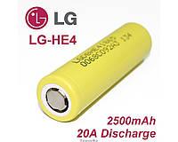 Аккумулятор 18650 Li-Ion LG HE4 2500mAh 20A ORIGINALsize аккумуляторные батареи элементы питания