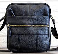 Чоловіча шкіряна сумка через плече якісна (С-1020ч) 5a0461d74d047