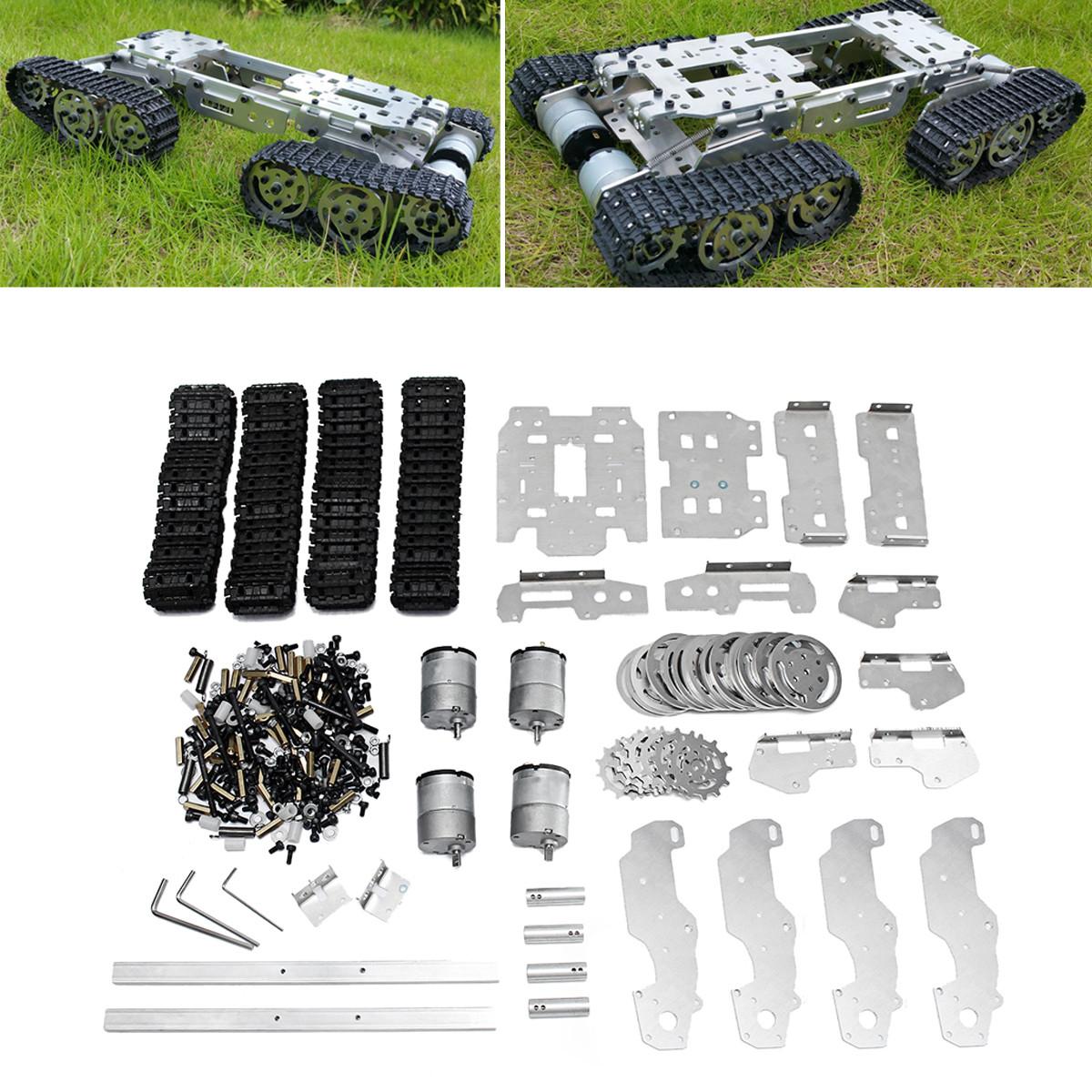 6-12V CNC Металлический робот RC Танк Гусеничный шасси Подвеска Препятствие Пересекая гусеничный ход с 4 двигателями-1TopShop