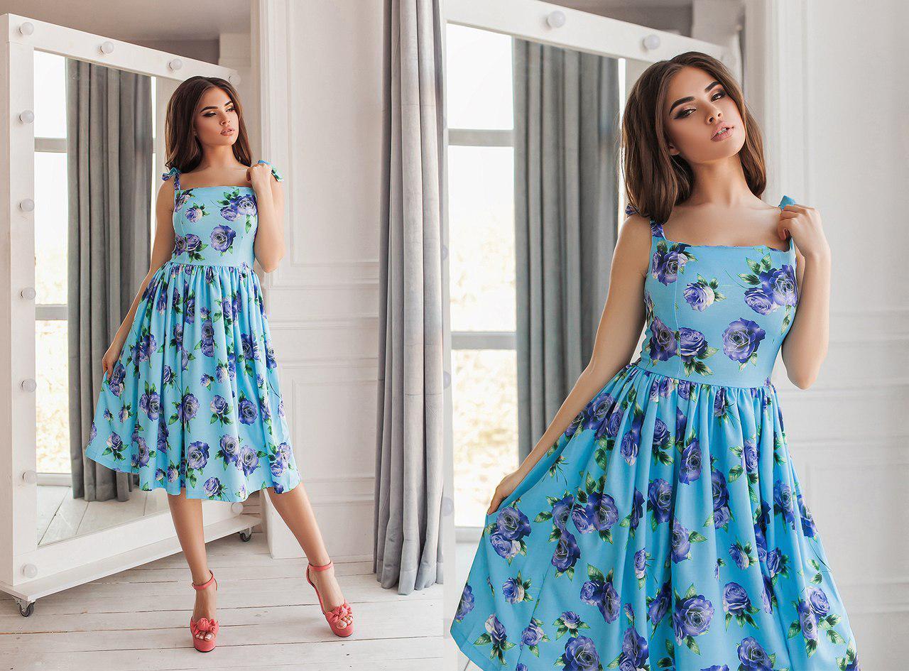 Очень красивое платье лен цветочный принт