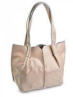 Женская сумка из лаковой кожи белого цвета 813-1, фото 1