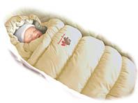 Детский конверт-трансформер пуховик Дутик - Inflated Red ТМ Ontario Baby (Красный+мех)