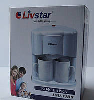 Кофеварка LIVSTAR LSU-1189, 2 Чашки, 450 Ватт