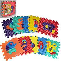 Детский Коврик Мозаика Пазл для пола МассажныйEVA M 2616, 10 деталей, 6 текстур, животные вариант 4