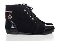 Замшевые кожаные ботинки на молнии в интернет-магазине