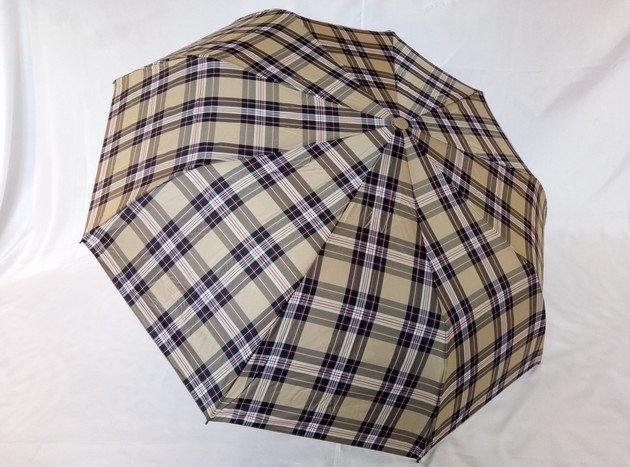 Зонт мужской полуавтомат в клетку на 9 спиц