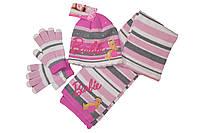 Вязаная Шапка Барби (+шарфик+перчатки)