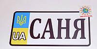 Номер на велосипед Саня