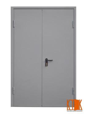 Двери двуполые металлические противопожарные  глухие ДМП ЕІ60-1-2100х1200