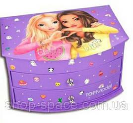 Шкатулка для девочки Top Model, лиловая