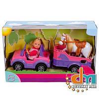 Кукольный набор «Еви и трейлером с лошадкой» Evi Love Simba 573 7460, В наличии