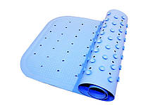 Антискользящий коврик для ванной Aquababy 76х34 Голубой (12082025)