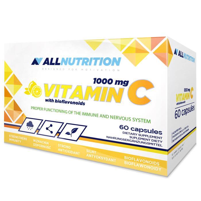 Витамины AllNutrition Vitamin C 1000 мг + bioflaw 60 caps