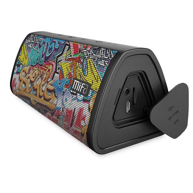 Портативная bluetooth колонка Mifa A10 Graffiti c поддержкой Micro SD карт