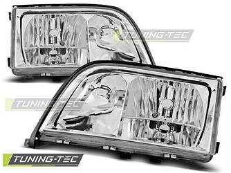 Передние фары тюнинг оптика Mercedes W140