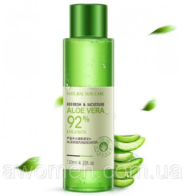 Тонер Rorec увлажняющий и восстанавливающий Refresh&Moisture Aloe Vera 92% 120 мл