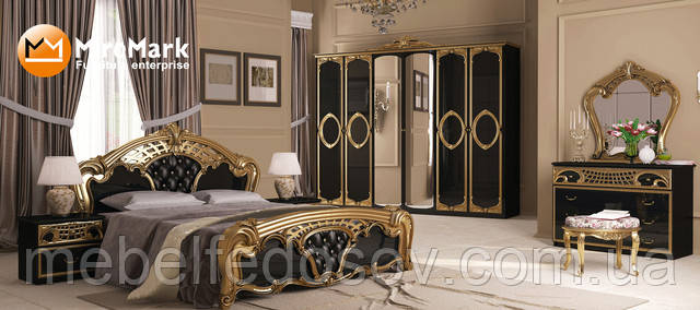 Модульная спальня Реджина черный глянец (Миро Марк/MiroMark)