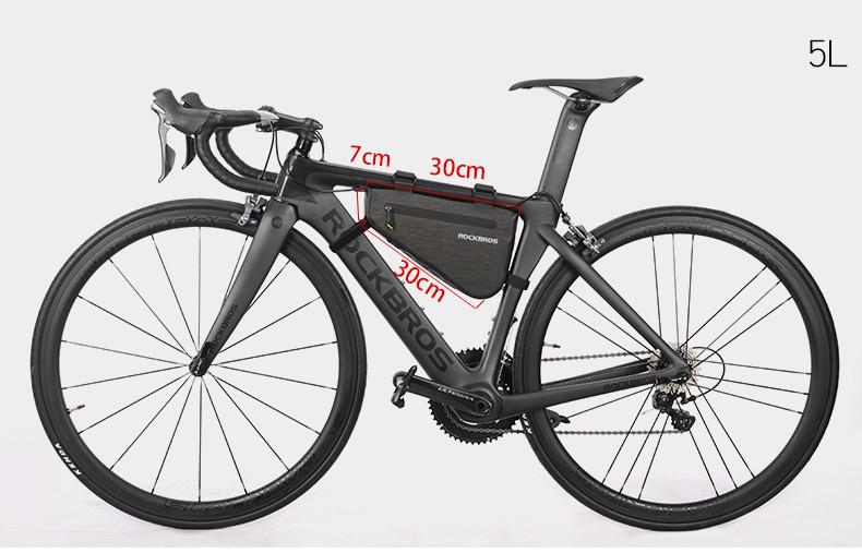 Велосумка подрамная RockBros 5L водонепроницаемая