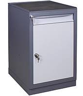 Тумба инструментальная МД (500х600хН850мм), станочная тумба с выдвижным ящиком и дверью