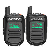 2Pcs Zastone mini9 Walkie Talkie UHF 400-470MHz Двухсторонний Радио FM-приемопередатчик Communicator Радио