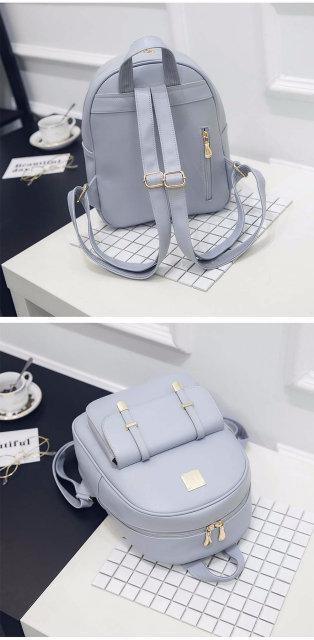 Женский набор с рюкзаком 3 в 1 голубой