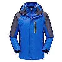 МужскаятолстаяфлисоваязимаНаоткрытом воздухе Куртка из водоотталкивающей ткани