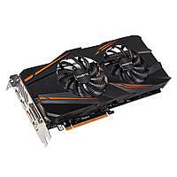 Видеокарта GeForce GTX1070 OC, Gigabyte, 8Gb DDR5, 256-bit, DVI/HDMI/3xDP, 1771/8008 MHz (GV-N1070WF2OC-8GD)