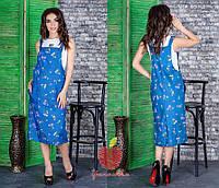 3876235f288 Женский модный джинсовый сарафан с рисунком