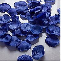 Лепестки роз на свадьбу синие