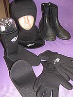Неопреновые носки для дайвинга,перчатки неопреновые,шлем неопрен,боты. Распродажа!!!