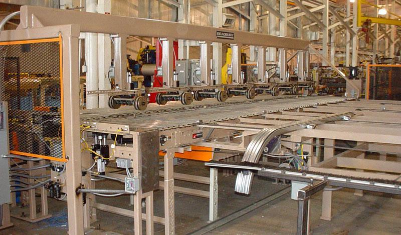 Линии формовки турникетов для производства гаражных ворот