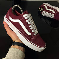 Кеды Vans Old Skool Bordo White (vans old scool)