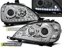 Передние фары тюнинг оптика Mercedes ML W163