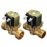 220В нормально замкнутый 2-проводной электромагнитный электромагнитный клапан для воздушного водяного клапана