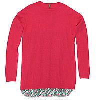 Джемпер United Colors of Benetton 170 см Розовый с зеленым (1198C1445)