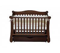 Детская кроватка Veres Соня ЛД 18 орех маятник (18.03)